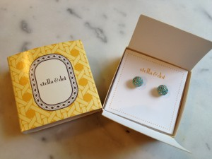 Stella & Dot turquoise studs.  Photo by Rebecca.