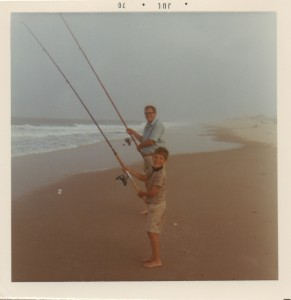 John and his dad fishing in July 1968?