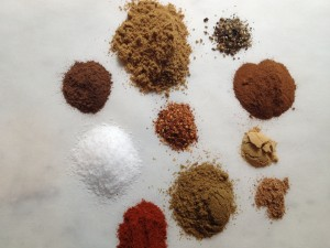 Break out the spices, this recipe calls for 10 different dry spices.