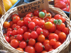 Grape tomatoes are small and sweet.