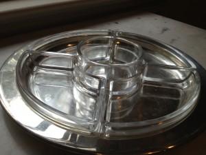Vintage silver relish tray. Photo by Rebecca Penovich.