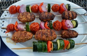 Grill your kofta with or without vegetables.  Photo courtesy of American Homestead.