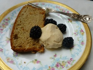Cardamom Sour Cream Pound Cake with Burnt Sugar Ice Cream