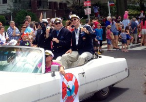 Land ahoy!  The Yachtsmen in the Palisades Parade.