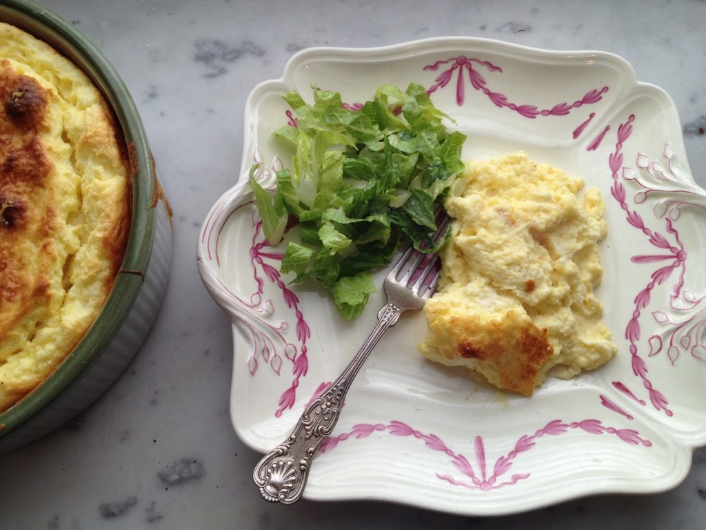 Cheese-Souffle-With-Salad-Vinaigrette