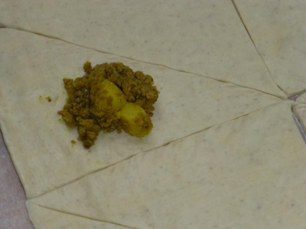Curry samosa filling
