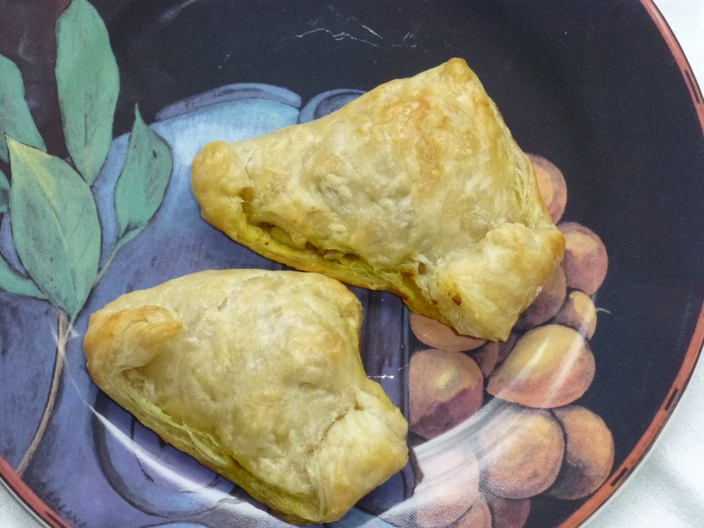 Turkey Samosas plated