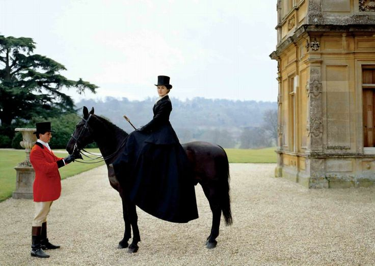 lady mary on horseback
