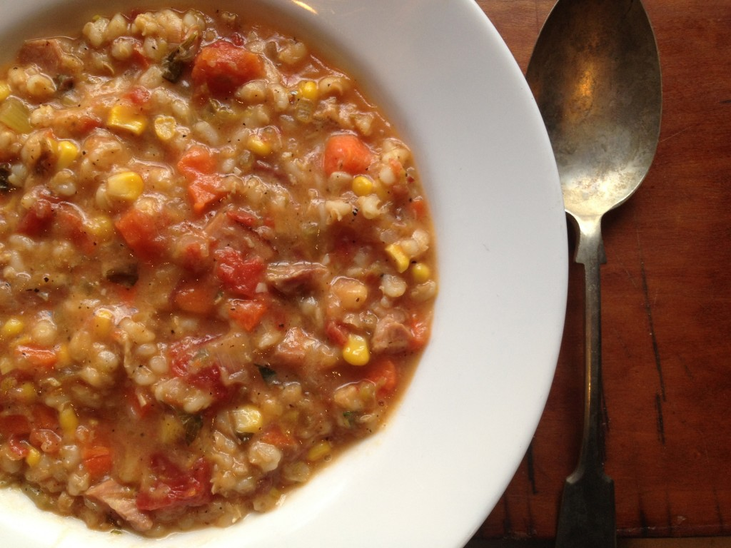 A hearty winter soup to eat by the fire. Photo credit: Rebecca Penovich