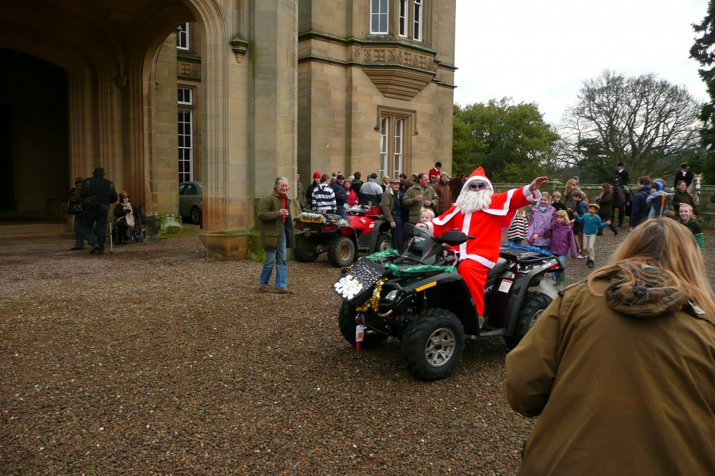 We know we're not in 1925 when Santa makes an appearance on his ATV.